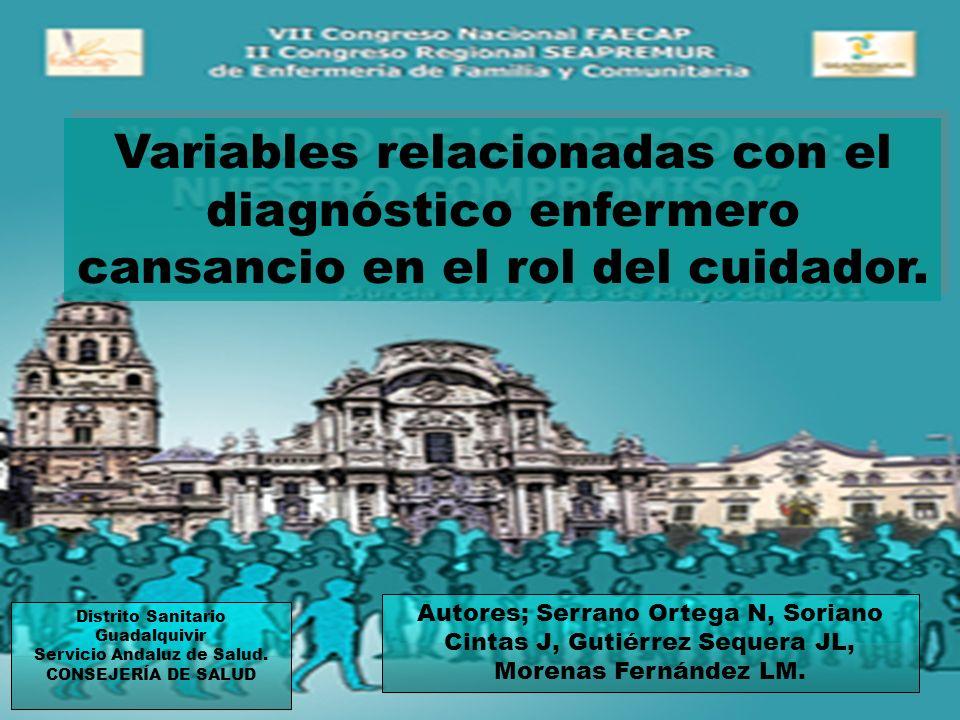 Distrito Sanitario Guadalquivir Servicio Andaluz de Salud.