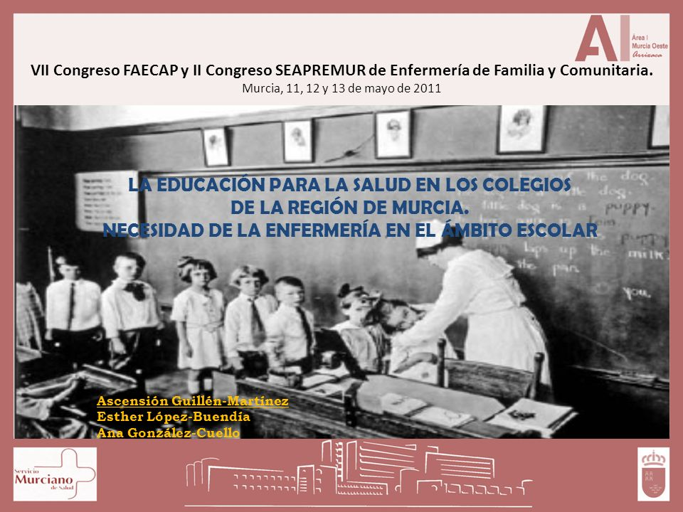 LA EDUCACIÓN PARA LA SALUD EN LOS COLEGIOS DE LA REGIÓN DE MURCIA.