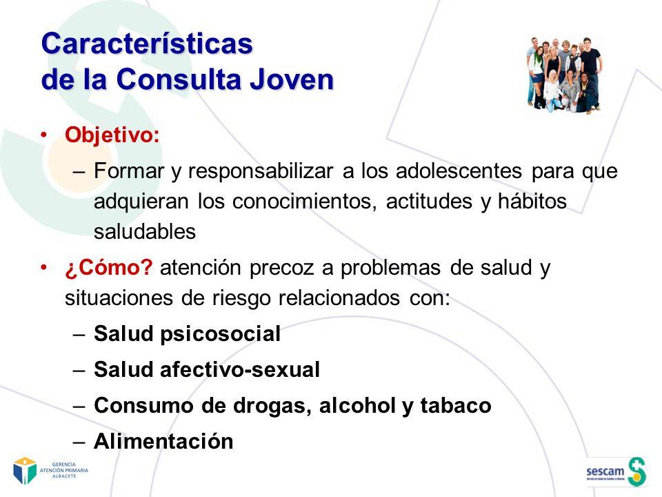 Características de la Consulta Joven