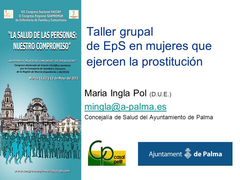 Taller grupal de EpS en mujeres que ejercen la prostitución