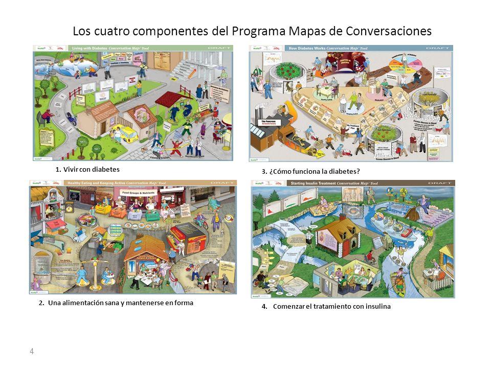 Los cuatro componentes del Programa Mapas de Conversaciones