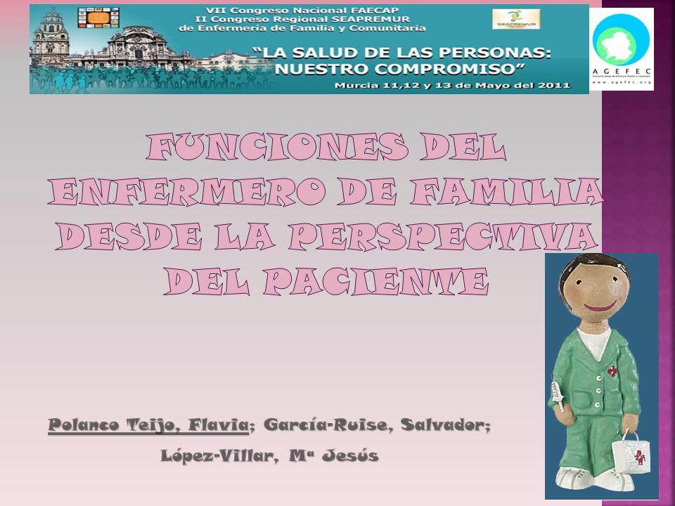 FUNCIONES DEL ENFERMERO DE FAMILIA DESDE LA PERSPECTIVA DEL PACIENTE