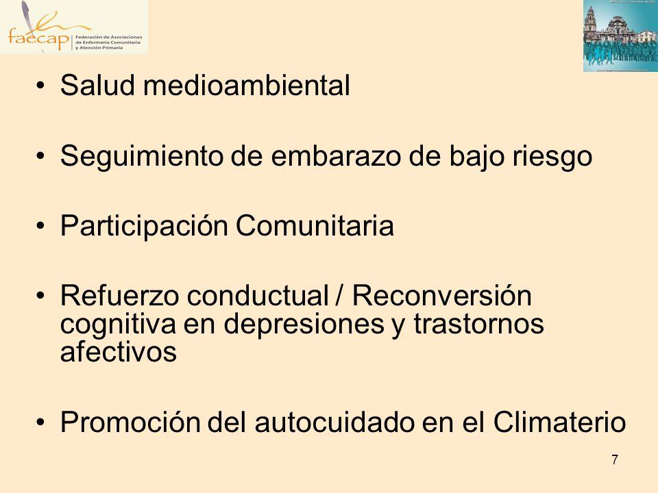 Salud medioambientalSeguimiento de embarazo de bajo riesgo. Participación Comunitaria.