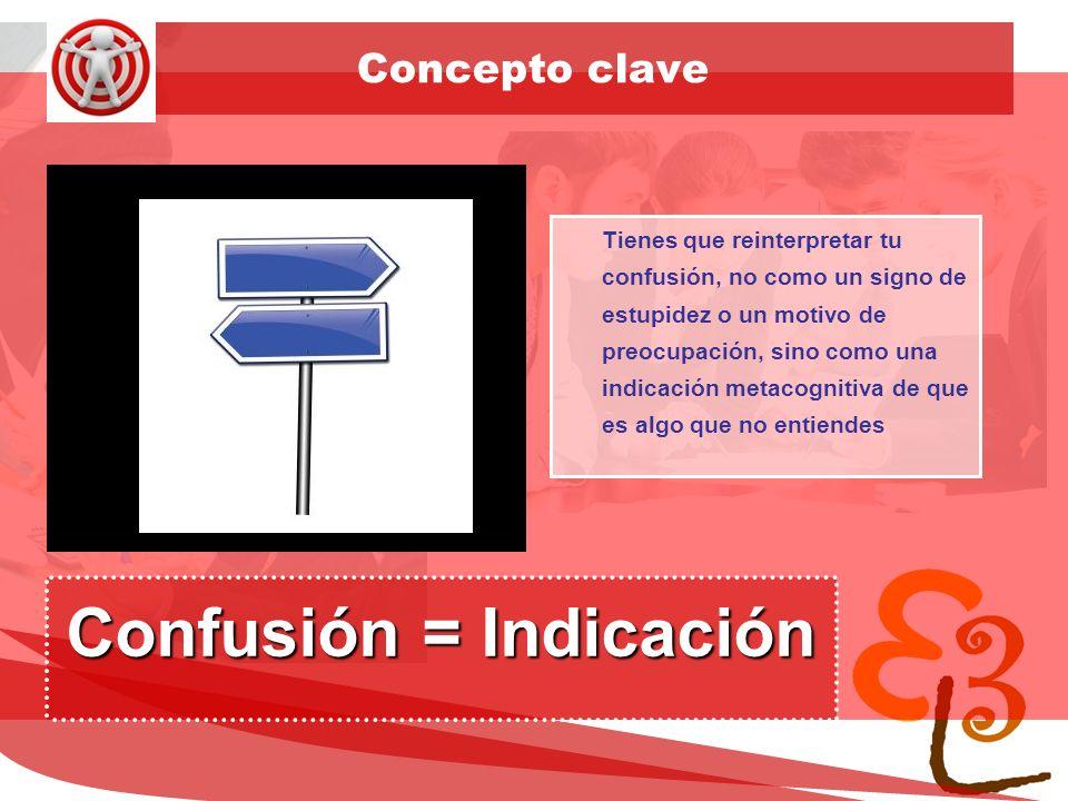 Confusión = Indicación