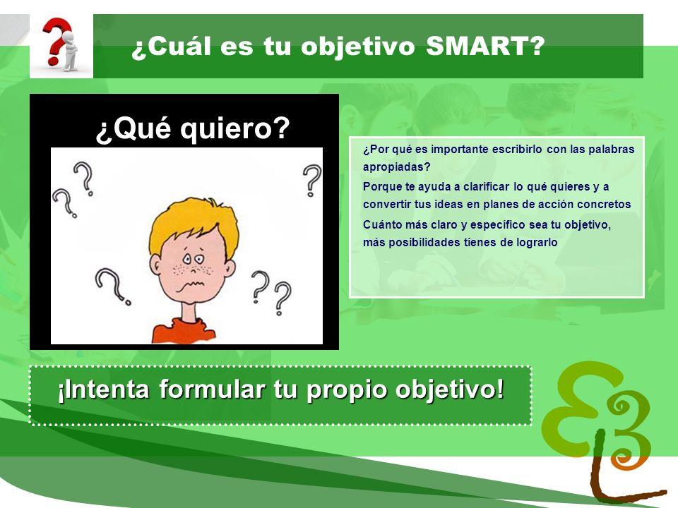 ¿Cuál es tu objetivo SMART