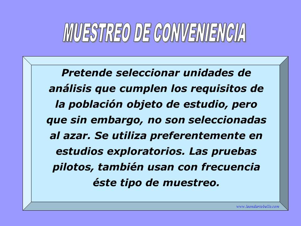 MUESTREO DE CONVENIENCIA