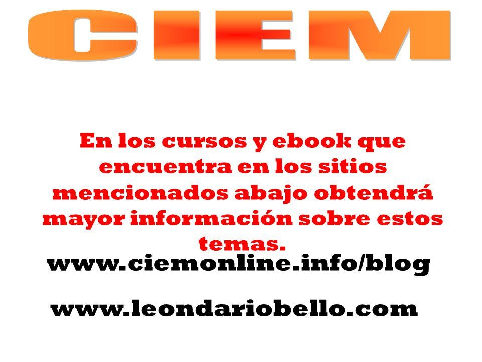www.ciemonline.info/blog www.leondariobello.com CIEM