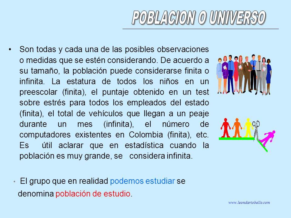 POBLACION O UNIVERSO