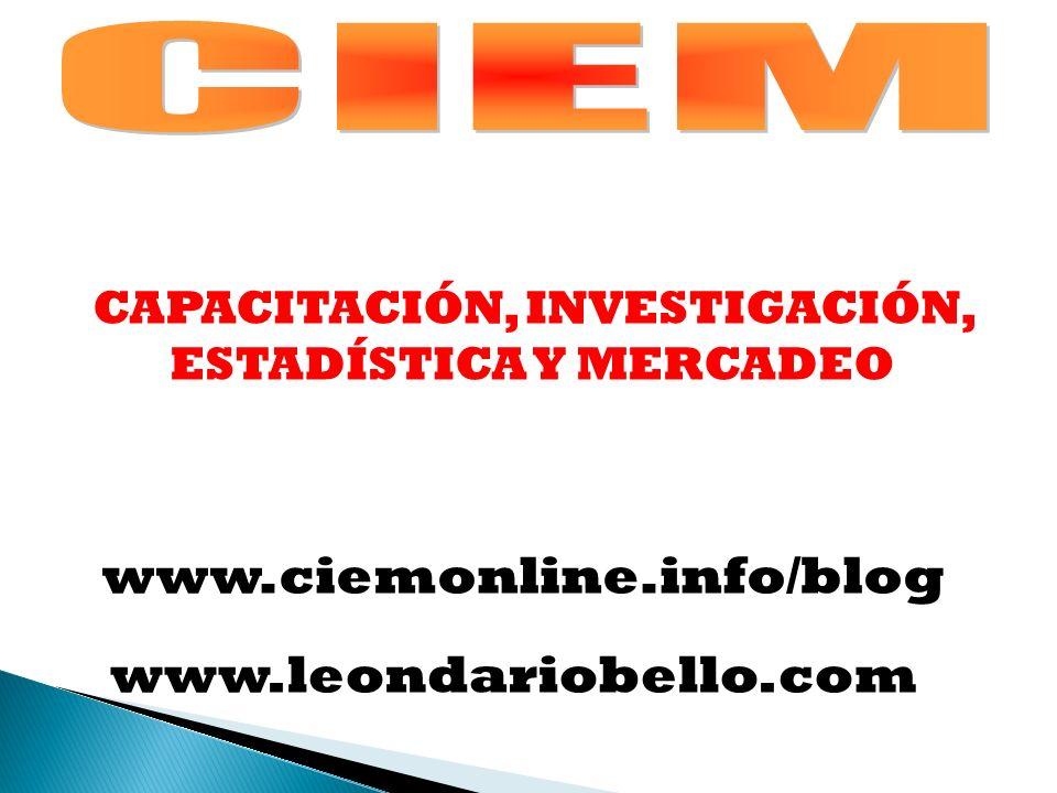 CAPACITACIÓN, INVESTIGACIÓN, ESTADÍSTICA Y MERCADEO