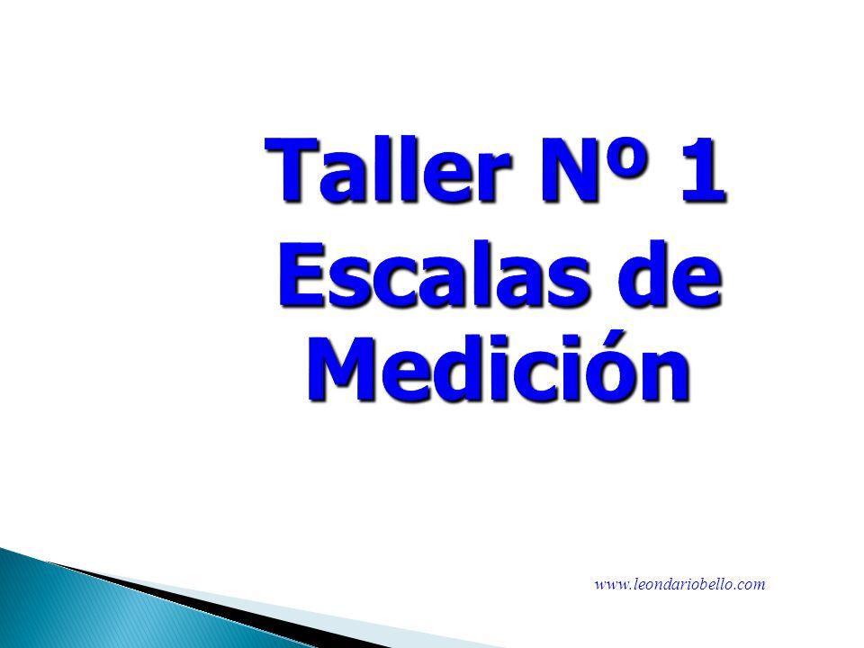 Taller Nº 1 Escalas de Medición
