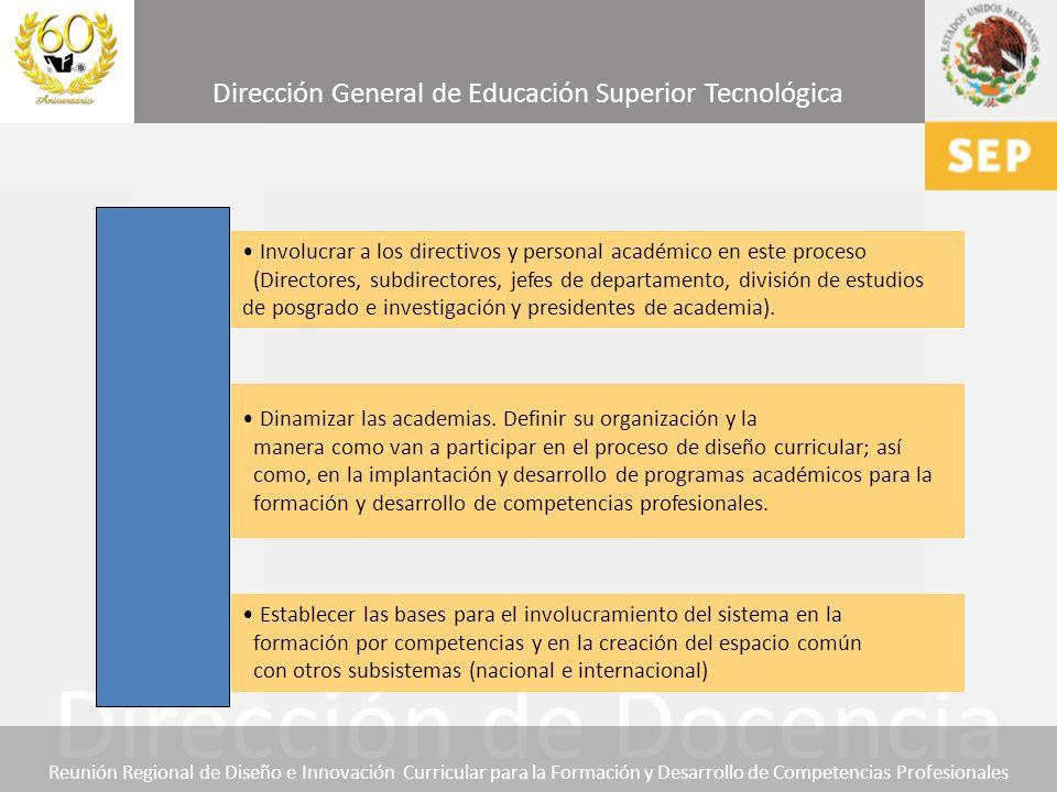 Involucrar a los directivos y personal académico en este proceso