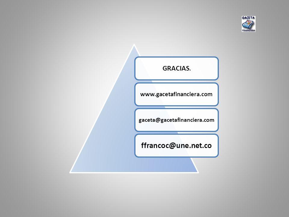 GRACIAS. www.gacetafinanciera.com gaceta@gacetafinanciera.com