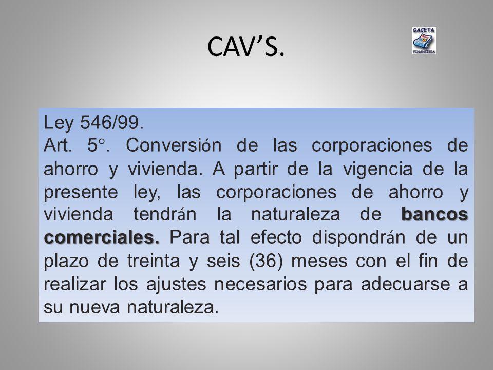 CAV'S. Ley 546/99.