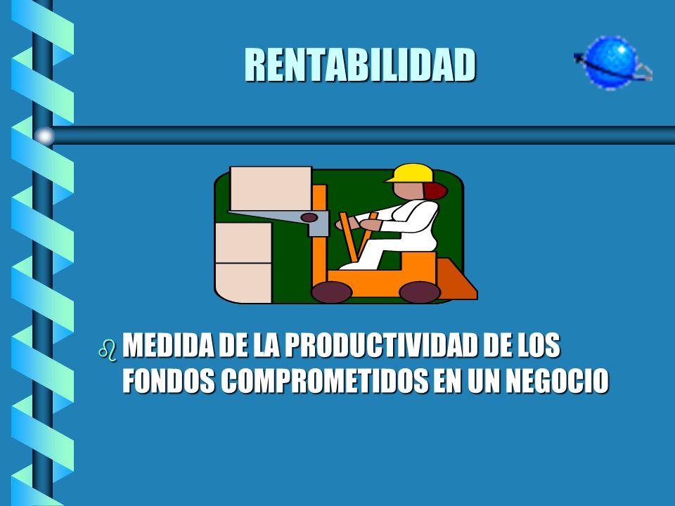 RENTABILIDAD MEDIDA DE LA PRODUCTIVIDAD DE LOS FONDOS COMPROMETIDOS EN UN NEGOCIO