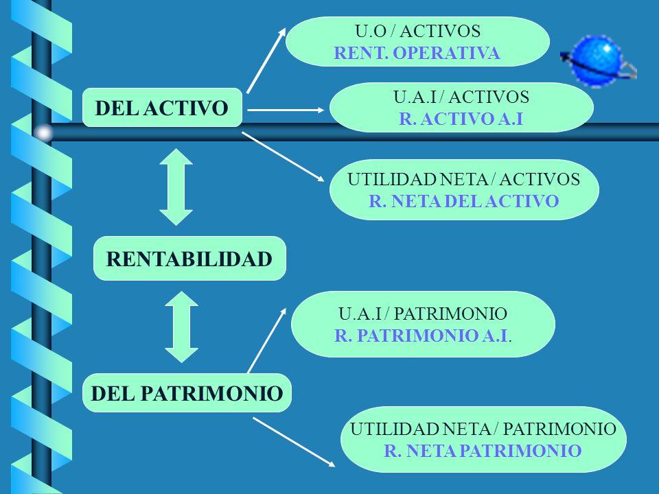 DEL ACTIVO RENTABILIDAD DEL PATRIMONIO