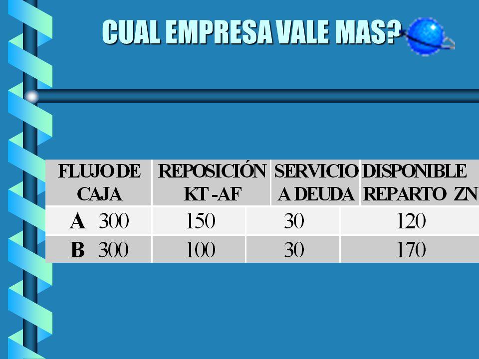 CUAL EMPRESA VALE MAS