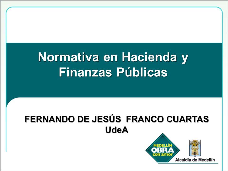 Normativa en Hacienda y Finanzas Públicas