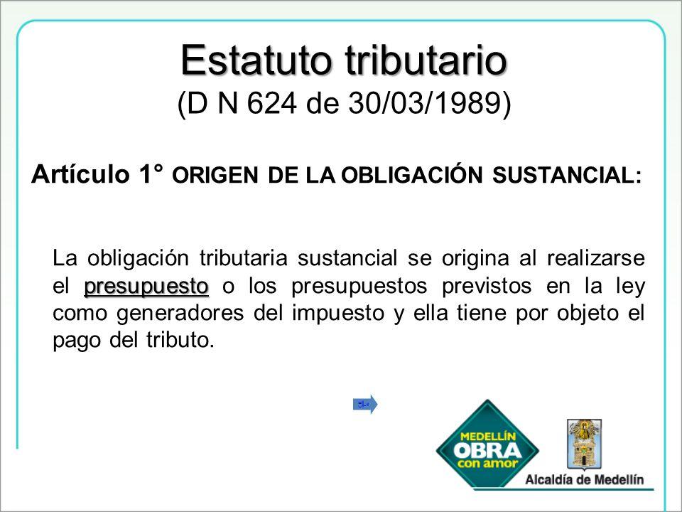 Estatuto tributario (D N 624 de 30/03/1989)