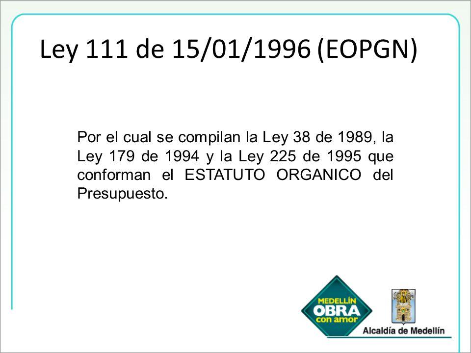 Ley 111 de 15/01/1996 (EOPGN)