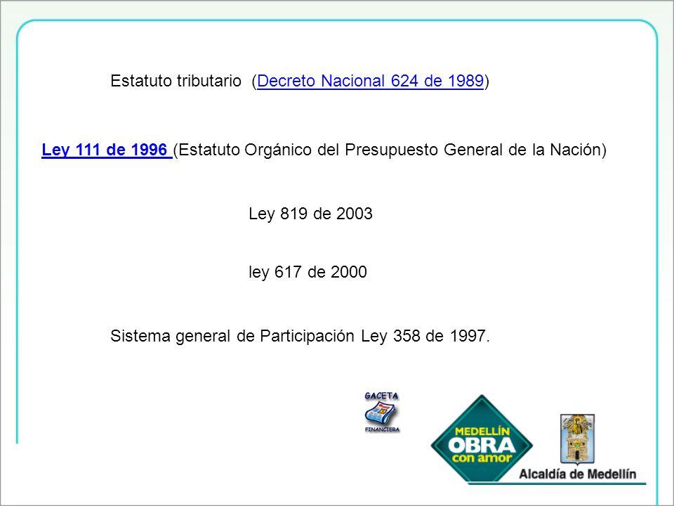 Estatuto tributario (Decreto Nacional 624 de 1989)