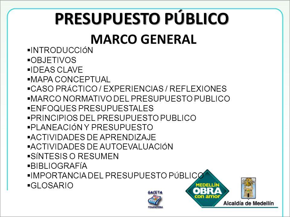 PRESUPUESTO PÚBLICO MARCO GENERAL