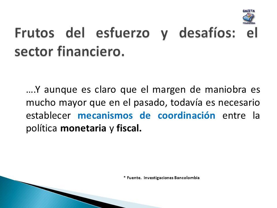 Frutos del esfuerzo y desafíos: el sector financiero.