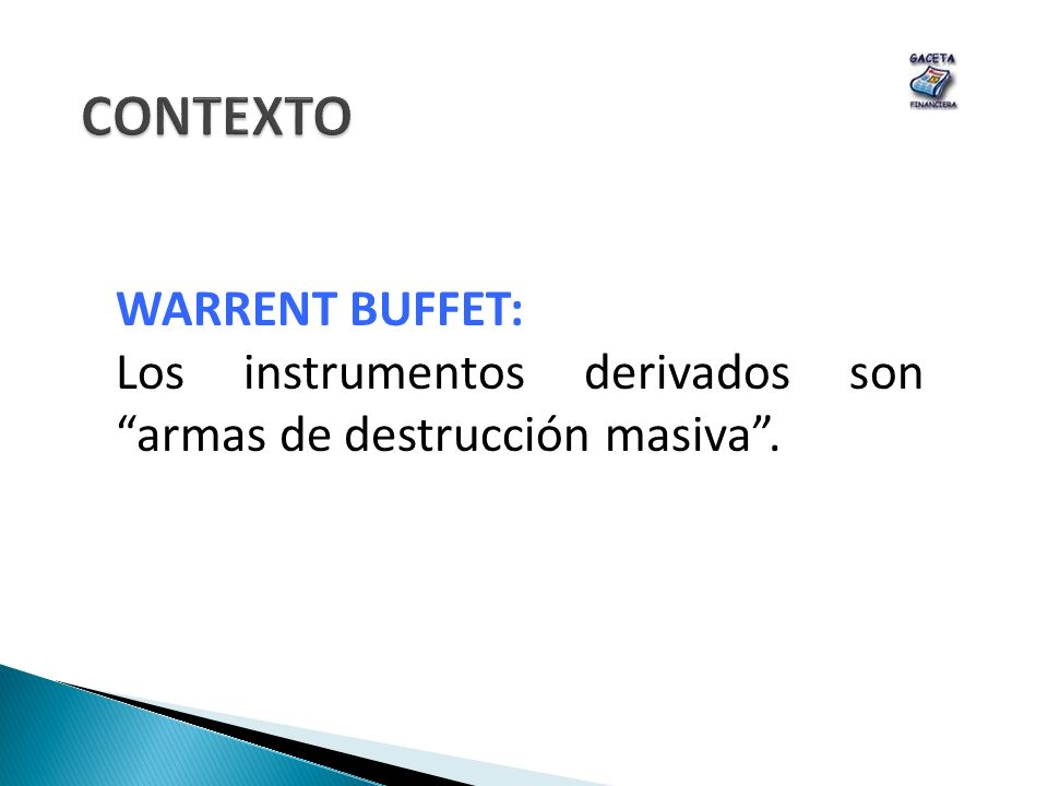 CONTEXTO WARRENT BUFFET: