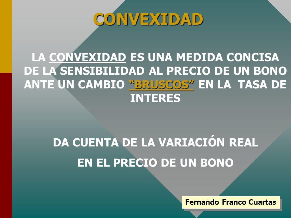 DA CUENTA DE LA VARIACIÓN REAL Fernando Franco Cuartas