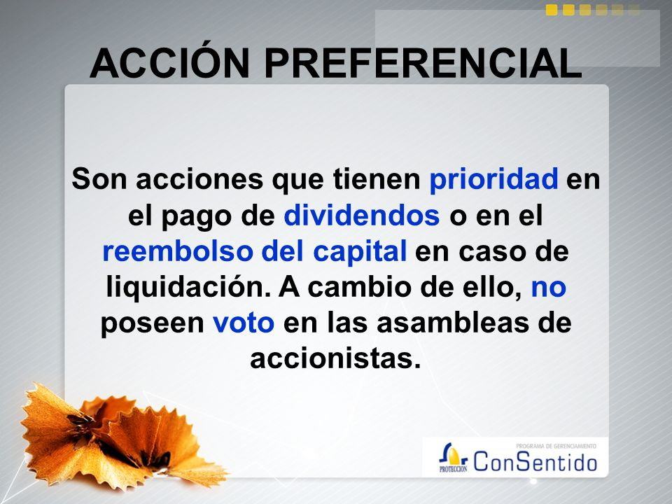 ACCIÓN PREFERENCIAL