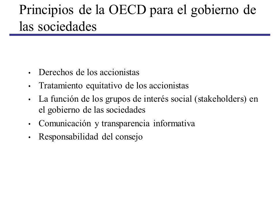 Principios de la OECD para el gobierno de las sociedades