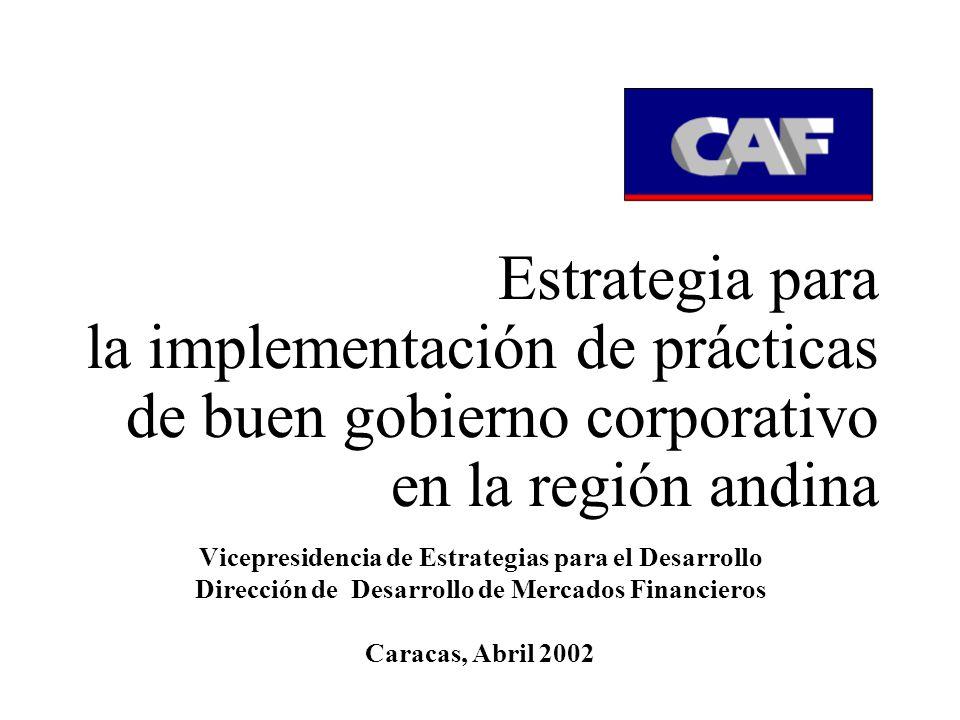 Estrategia para la implementación de prácticas de buen gobierno corporativo en la región andina