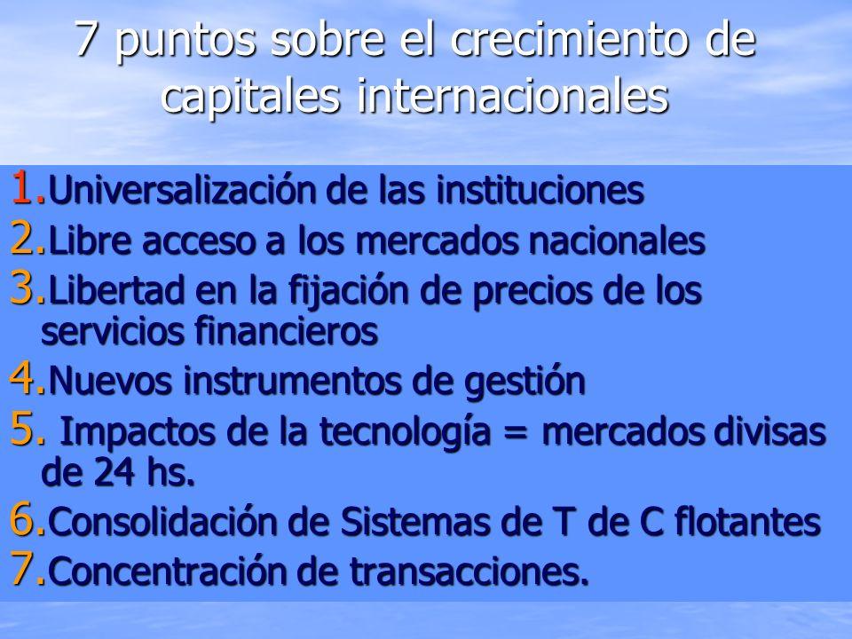 7 puntos sobre el crecimiento de capitales internacionales