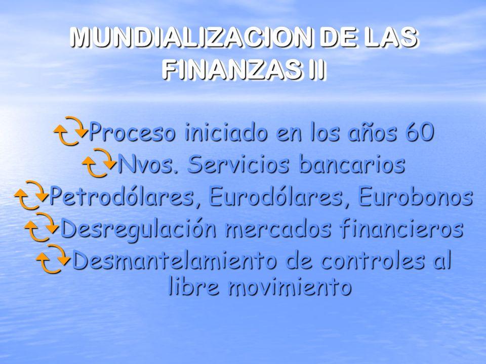 MUNDIALIZACION DE LAS FINANZAS II