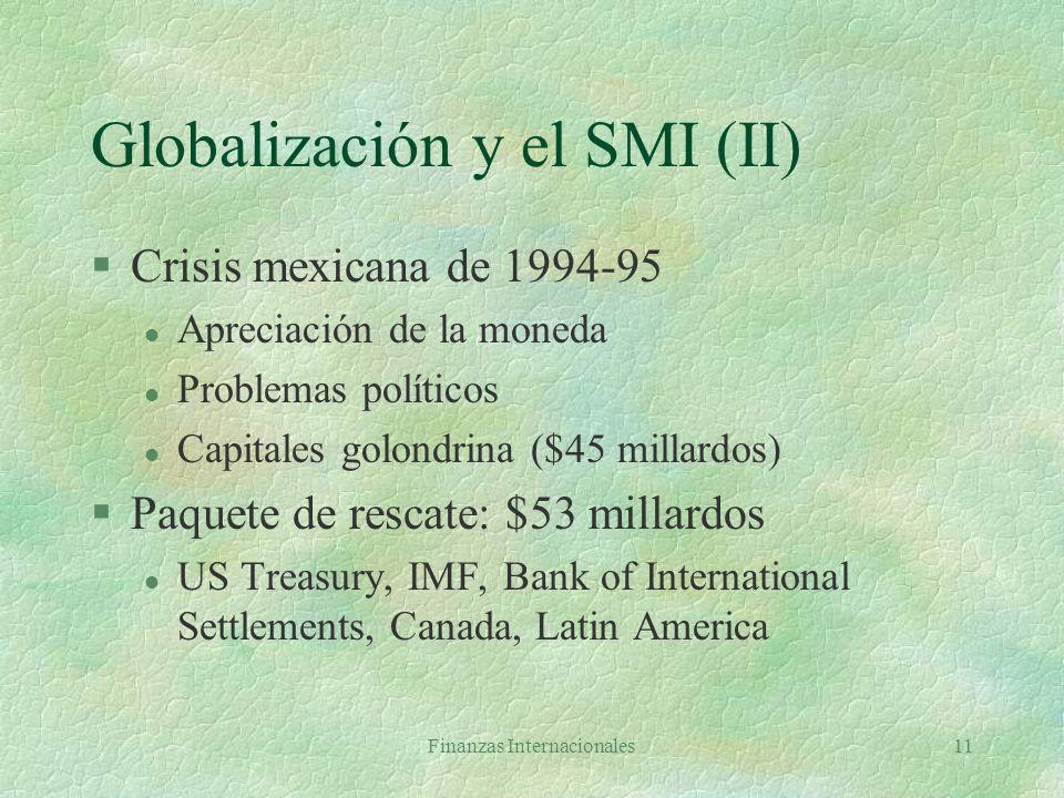 Globalización y el SMI (II)