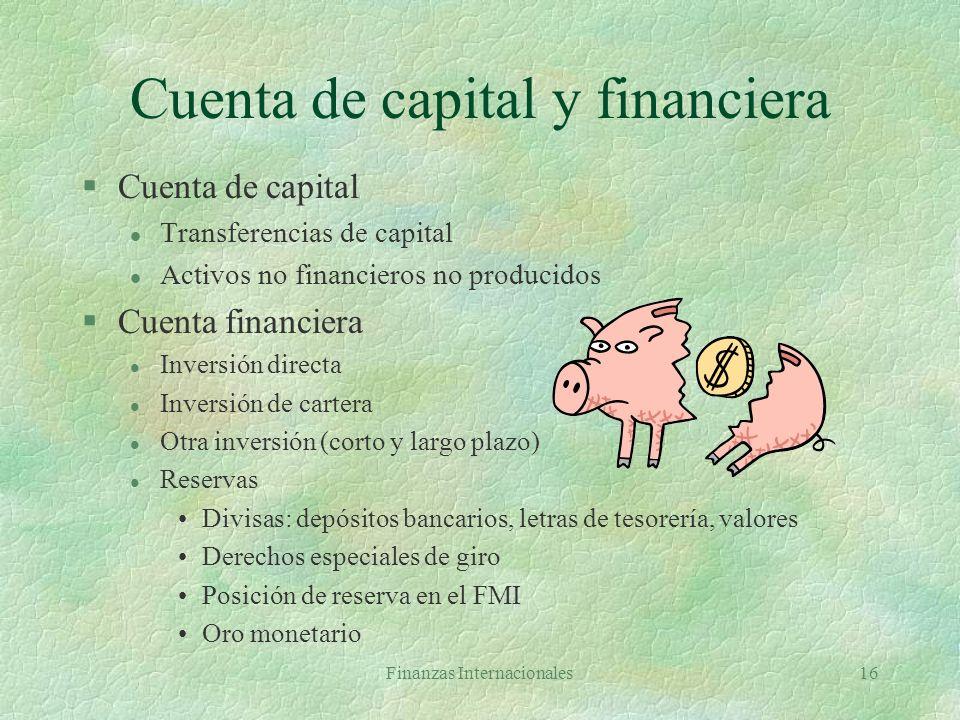 Cuenta de capital y financiera