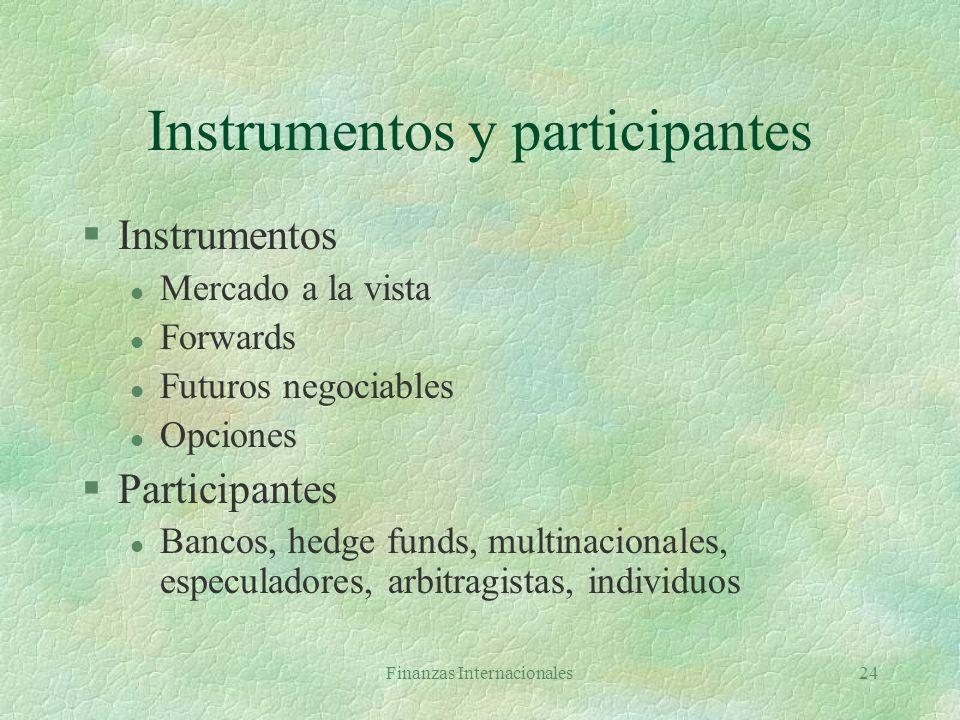 Instrumentos y participantes