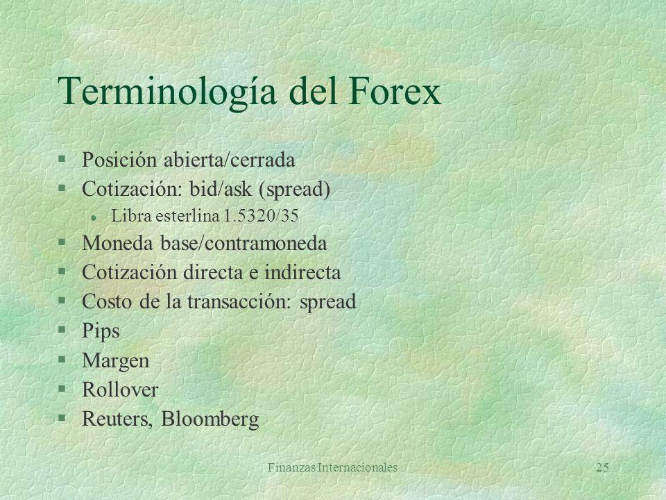 Terminología del Forex