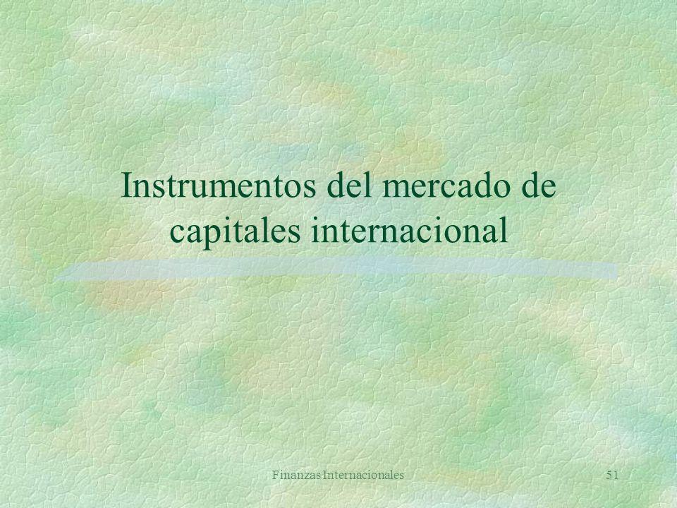 Instrumentos del mercado de capitales internacional