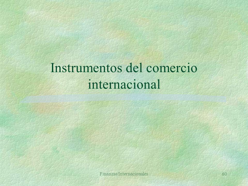 Instrumentos del comercio internacional