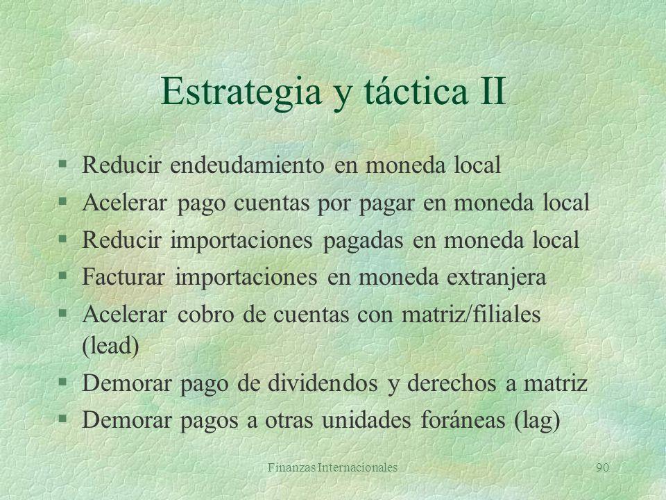Estrategia y táctica II