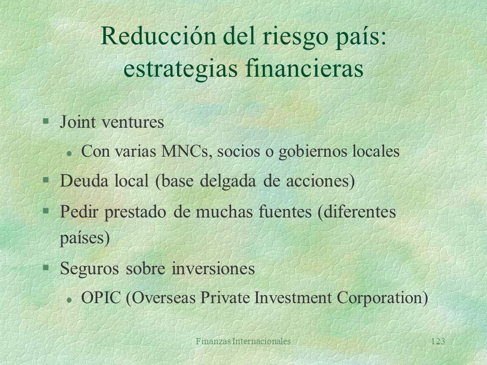 Reducción del riesgo país: estrategias financieras