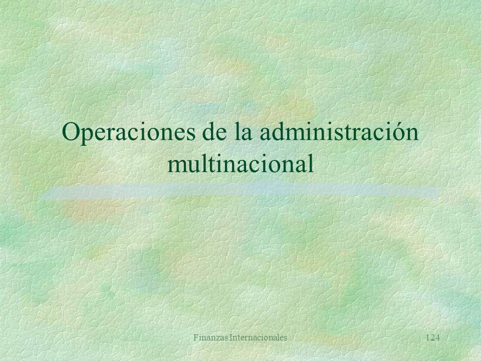 Operaciones de la administración multinacional