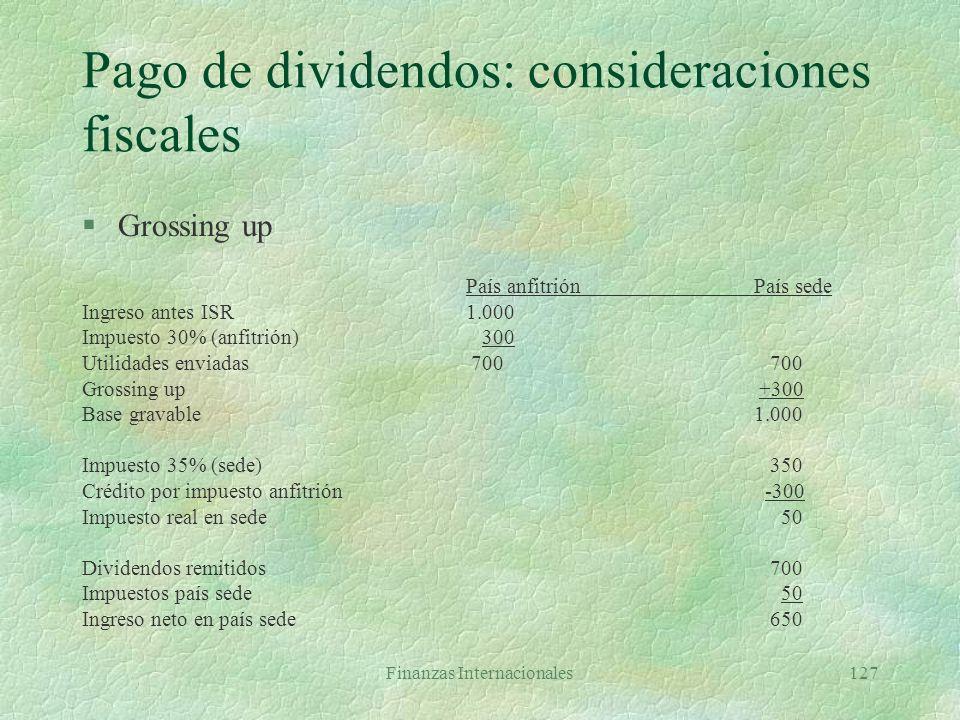 Pago de dividendos: consideraciones fiscales