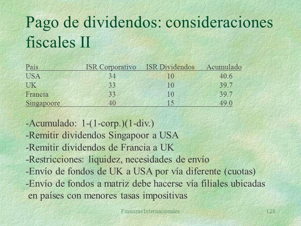 Pago de dividendos: consideraciones fiscales II