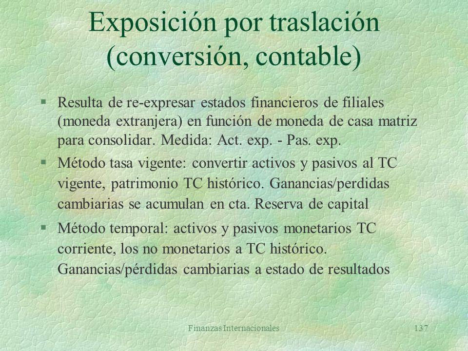 Exposición por traslación (conversión, contable)