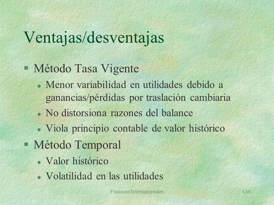 Ventajas/desventajas