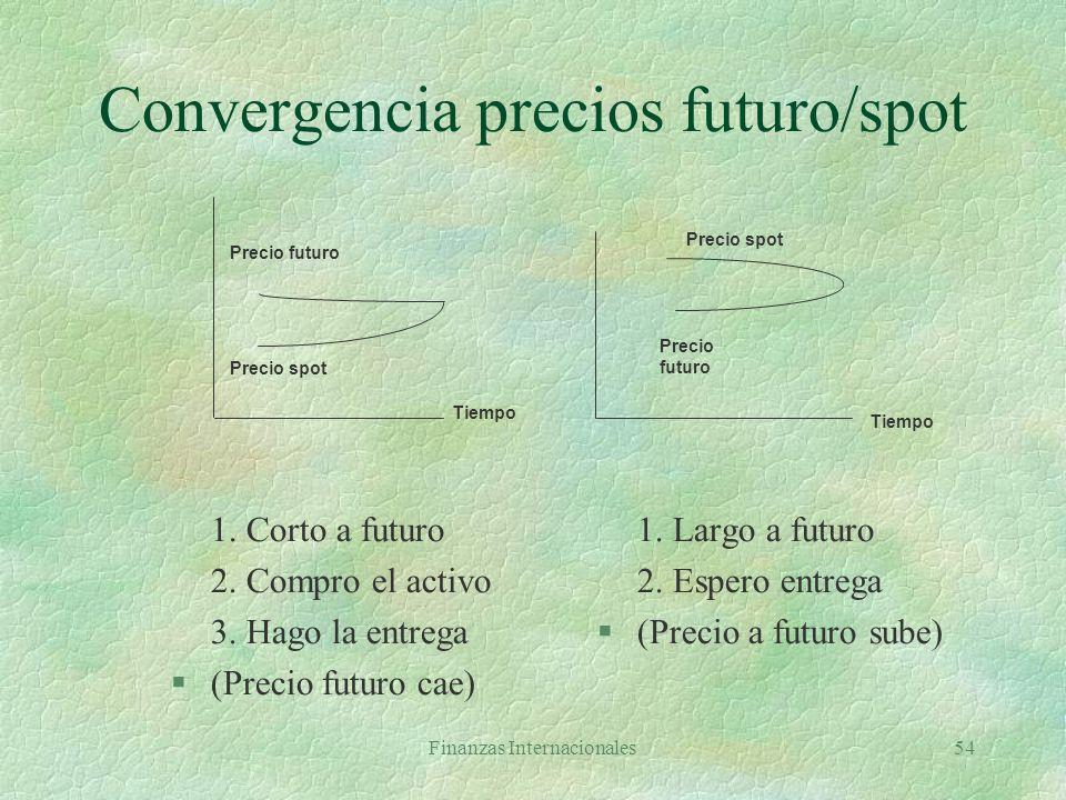 Convergencia precios futuro/spot