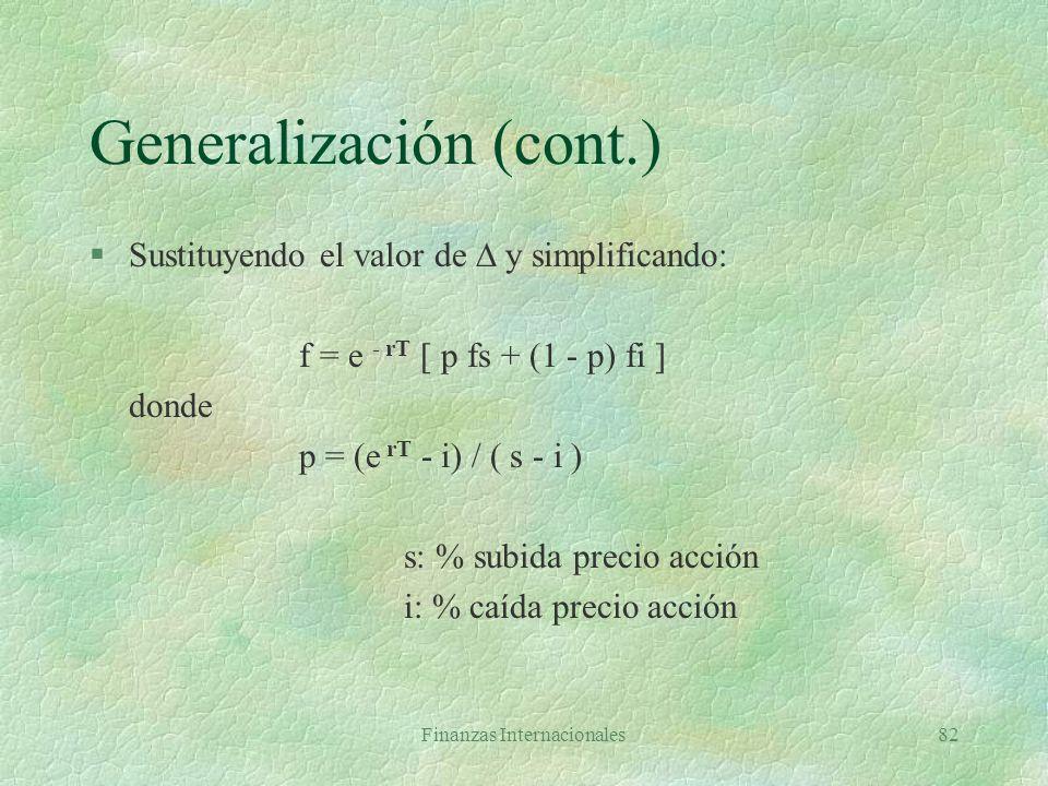 Generalización (cont.)