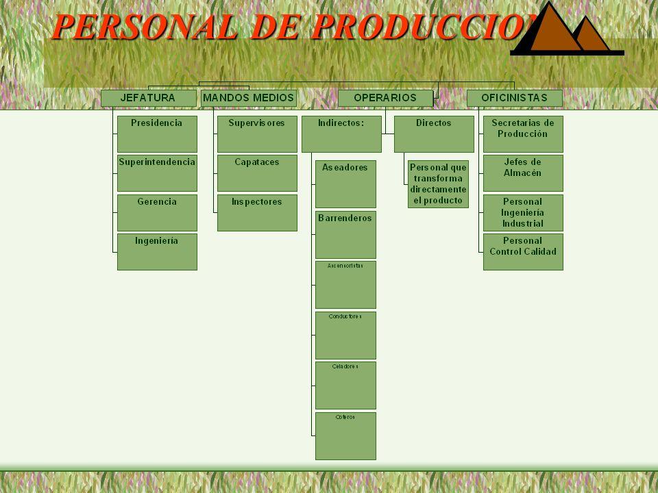 PERSONAL DE PRODUCCION