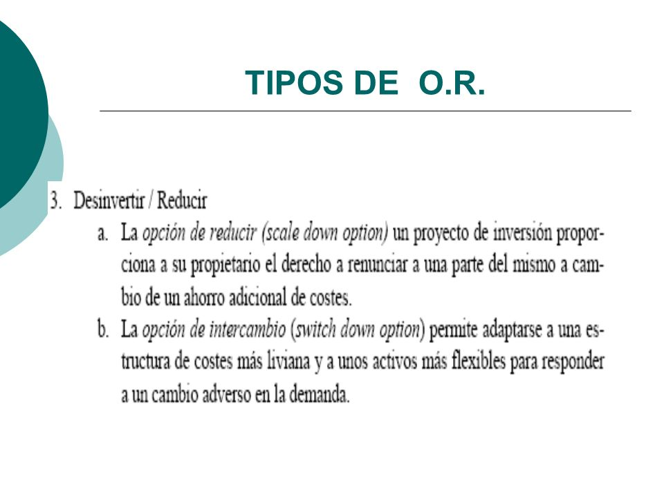 TIPOS DE O.R.